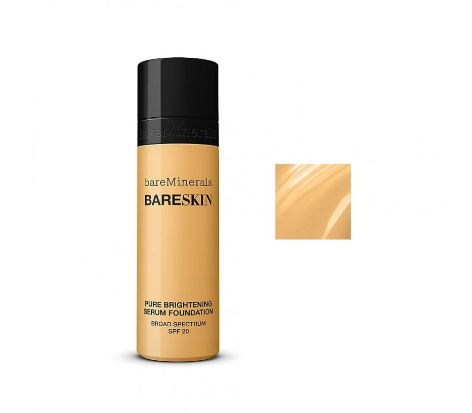 Bare Escentuals BareSkin Pure Brightening Serum Foundation Broad Spectrum SPF 20 (Bare Buff 10) 1fl.oz/30ml