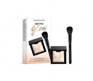 Bare Escentuals SET to Glow Mini invisible Light Translucent Powder & Brush Duo