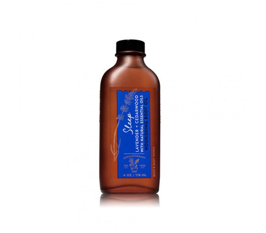 Bath and Body Works Aromatherapy Sleep Lavender & Cedarwood Nourishing Body Oil 4fl.oz/118ml