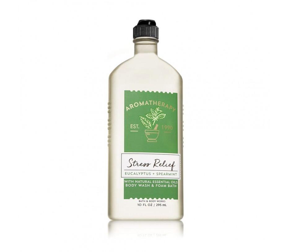Bath and Body Works Aromatherapy Stress Relief Eucalyptus & Spearmint Body Wash & Foam Bath 10fl.oz/296ml