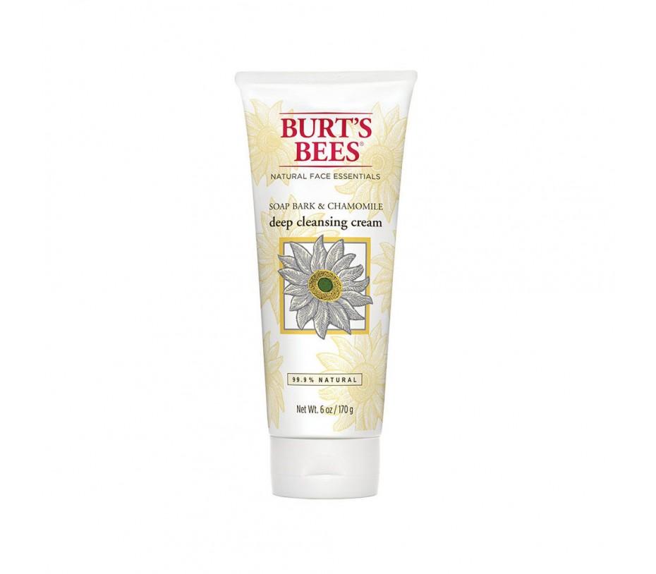 Burt's Bee Face Care Soap Bark & Chamomile Deep Cleansing Cream 6oz/177g