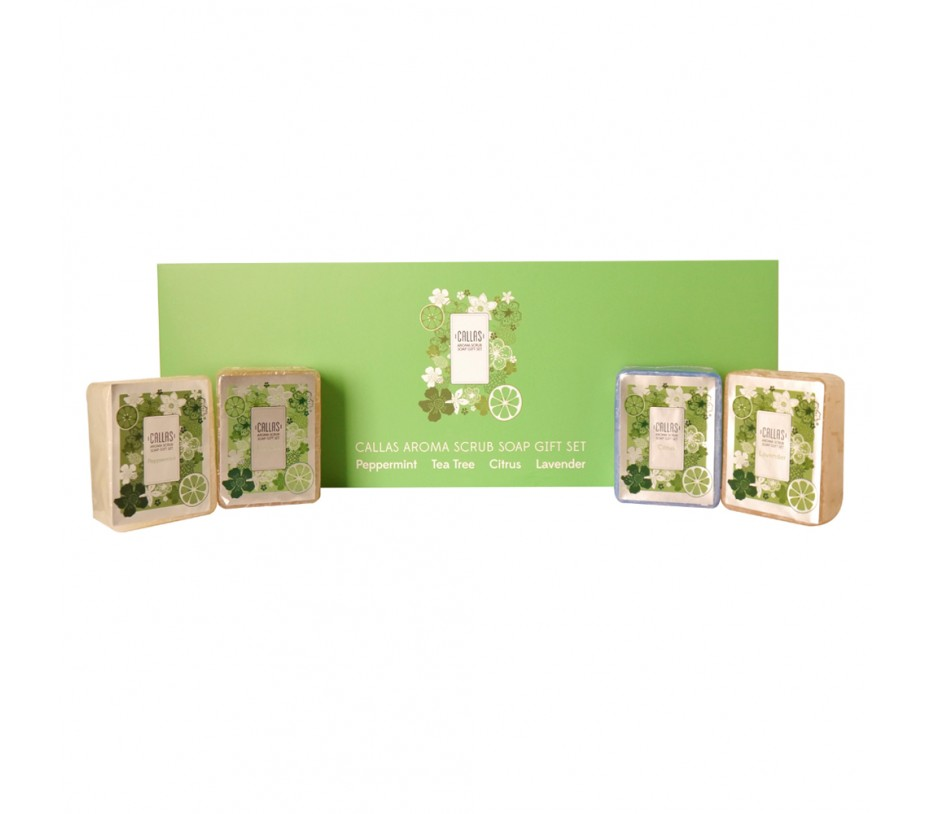 Callas Aroma Scrub Soap Gift Set 3.88oz/110g x 4