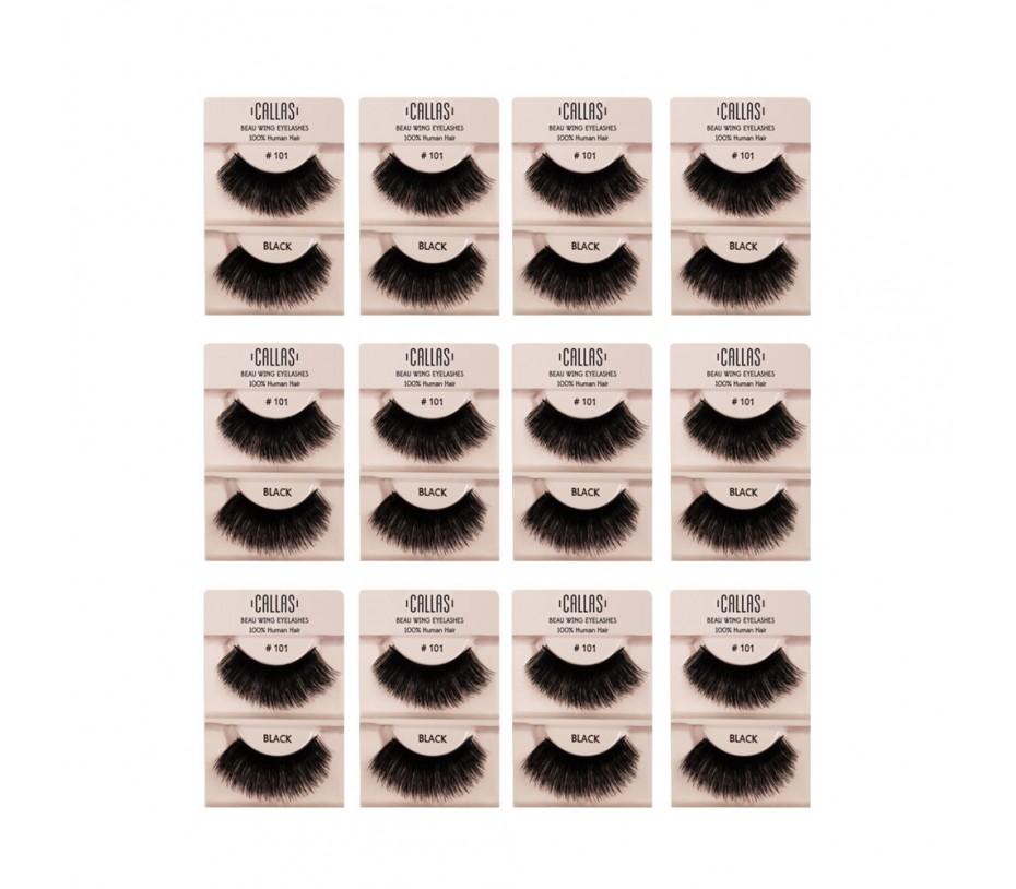 Callas Beau Wing Eyelashes #101 1pair x 12sets