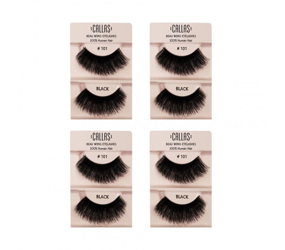 Callas Beau Wing Eyelashes #101 1pair x 4sets