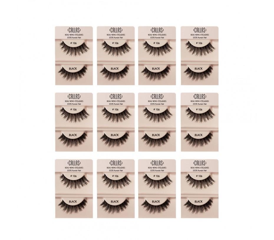 Callas Beau Wing Eyelashes #106 1pair x 12sets