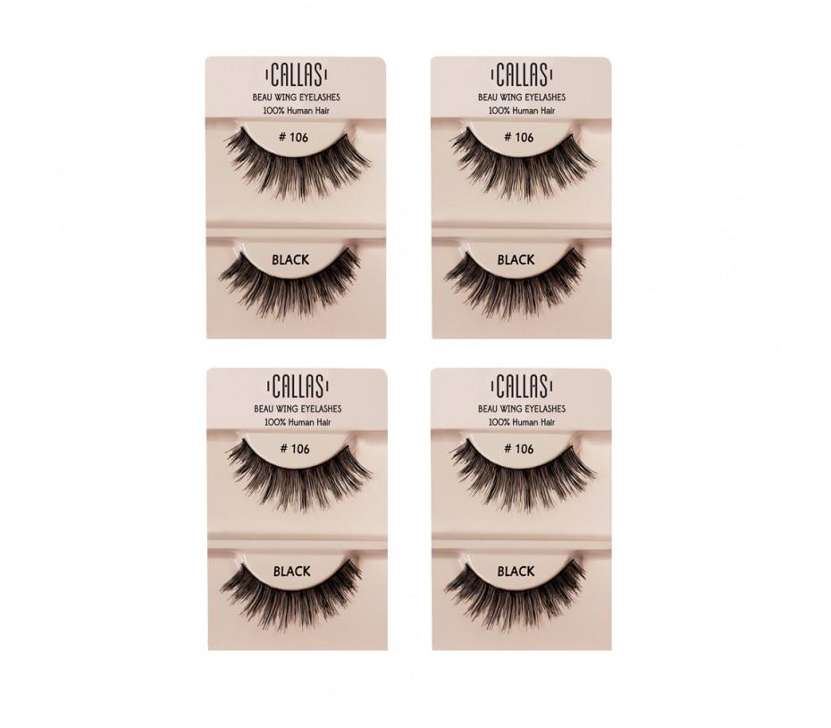 Callas Beau Wing Eyelashes #106 1pair x 4sets