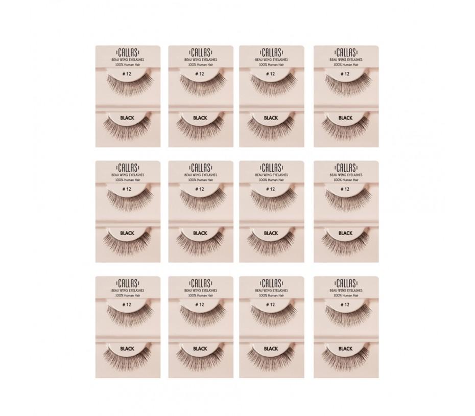 Callas Beau Wing Eyelashes #12 1pair x 12sets