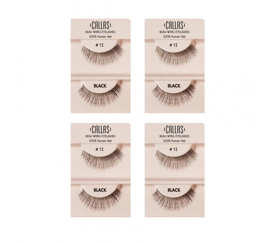 Callas Beau Wing Eyelashes #12 1pair x 4sets