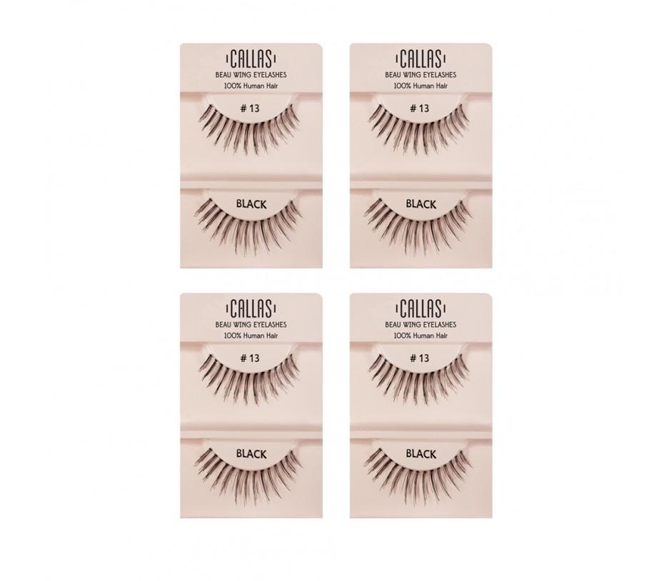 Callas Beau Wing Eyelashes #13 1pair x 4sets