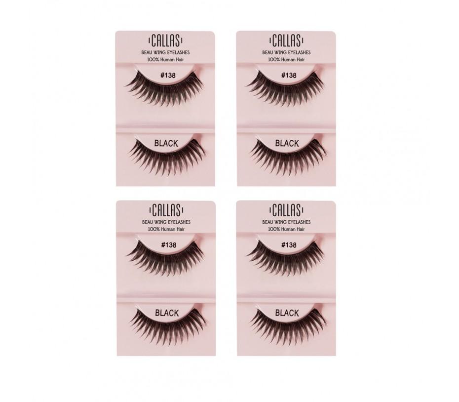 Callas Beau Wing Eyelashes #138 1pair x 4sets