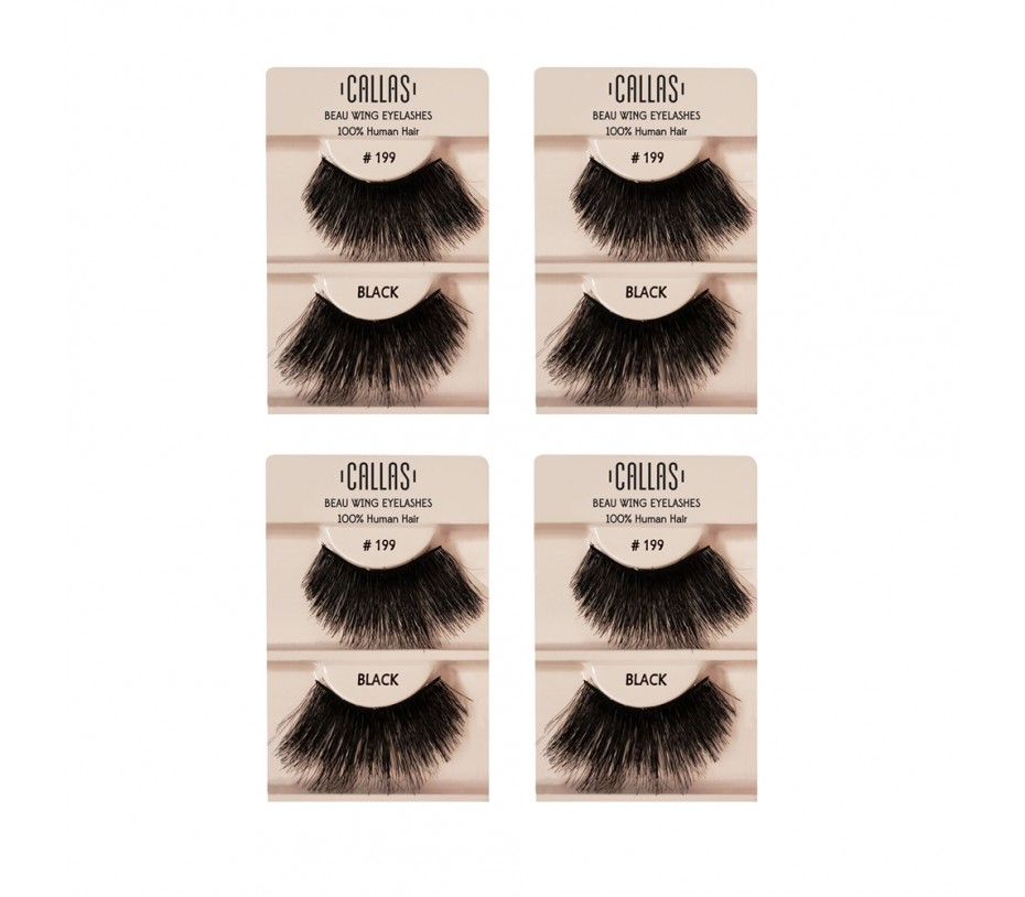 Callas Beau Wing Eyelashes #199 1pair x 4sets