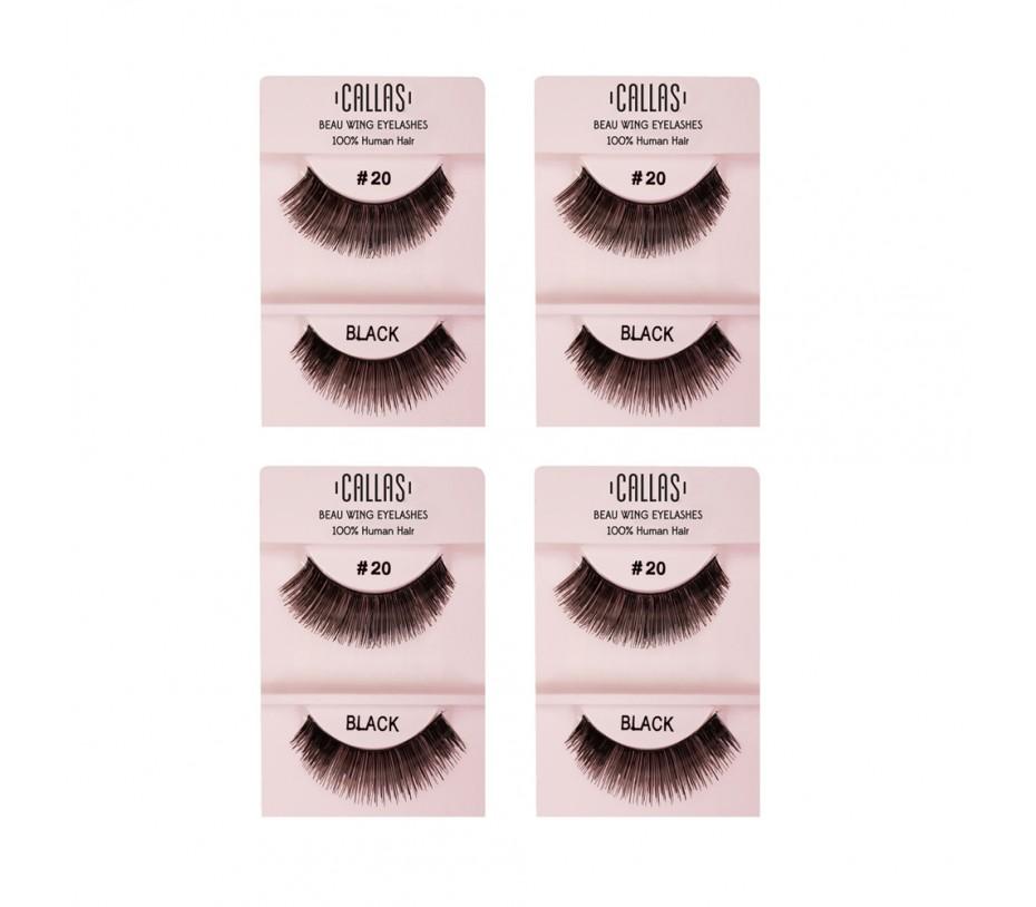 Callas Beau Wing Eyelashes #20 1pair x 4sets