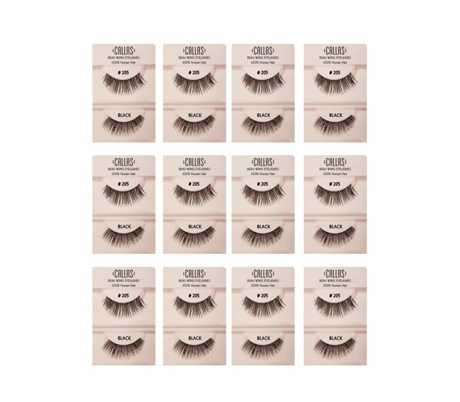 Callas Beau Wing Eyelashes #205 1pair x 12sets