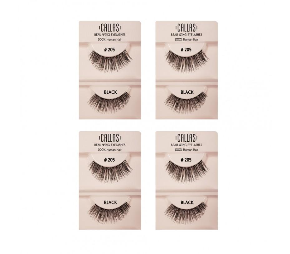 Callas Beau Wing Eyelashes #205 1pair x 4sets