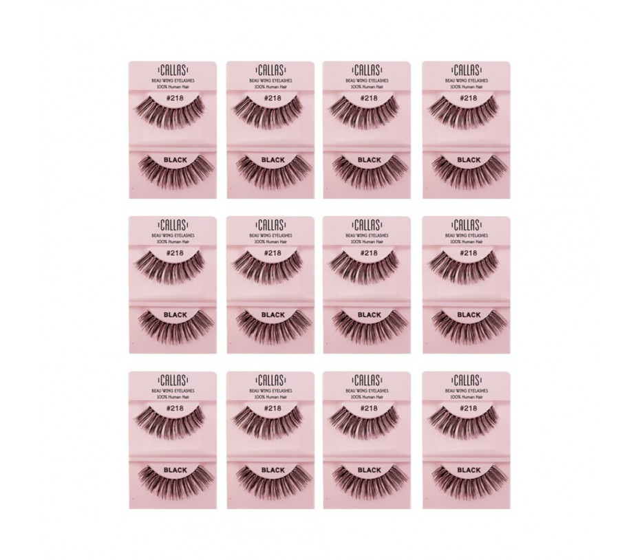 Callas Beau Wing Eyelashes #218 1pair x 12sets