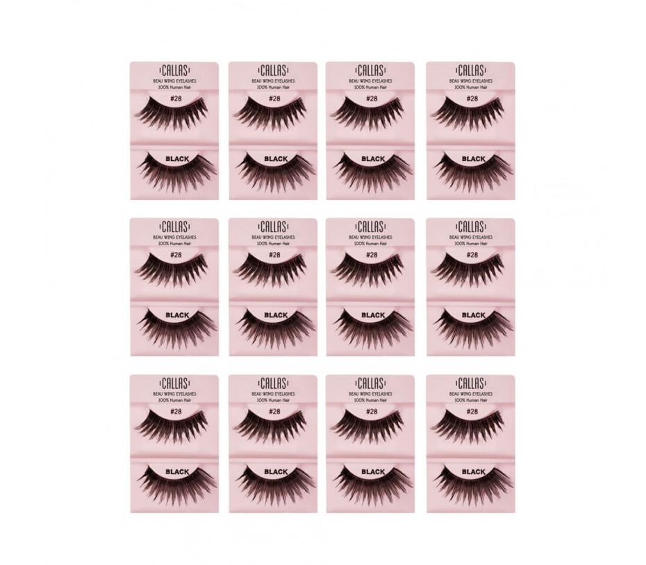Callas Beau Wing Eyelashes #28 1pair x 12sets