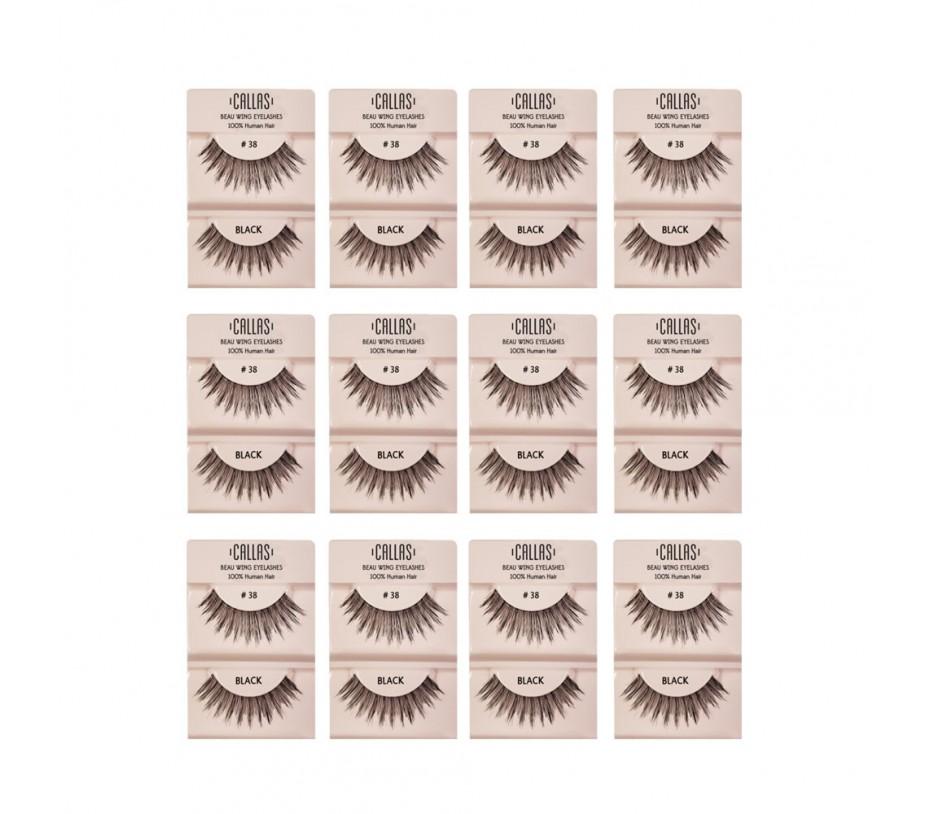 Callas Beau Wing Eyelashes #38 1pair x 12sets
