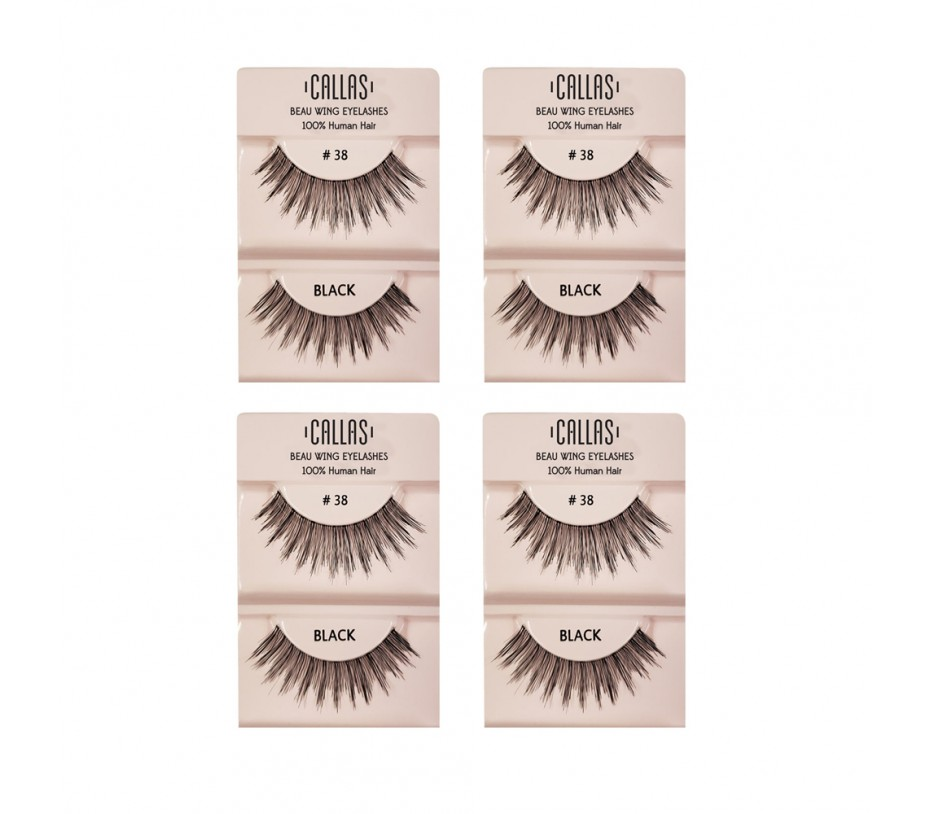 Callas Beau Wing Eyelashes #38 1pair x 4sets