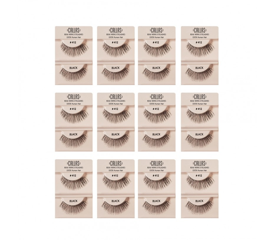 Callas Beau Wing Eyelashes #412 1pair x 12sets