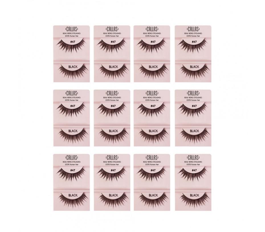 Callas Beau Wing Eyelashes #47 1pair x 12sets