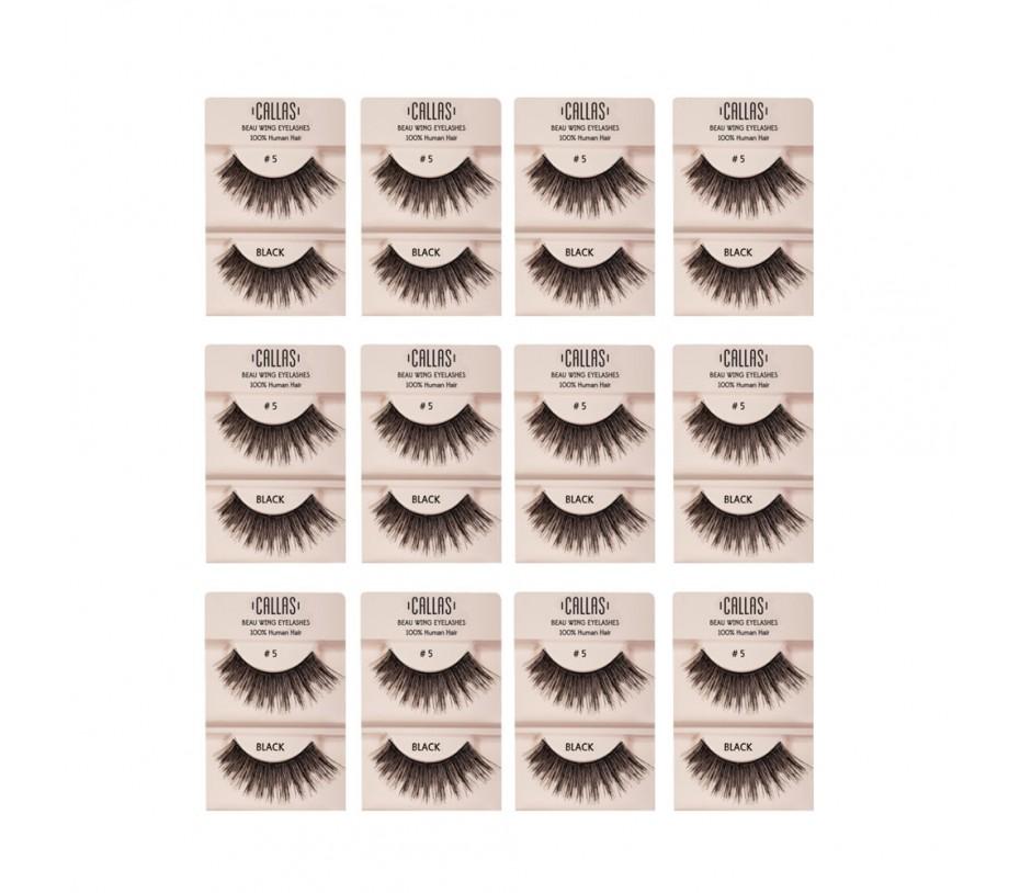 Callas Beau Wing Eyelashes #5 1pair x 12sets
