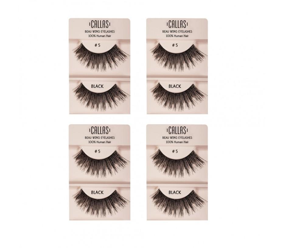 Callas Beau Wing Eyelashes #5 1pair x 4sets