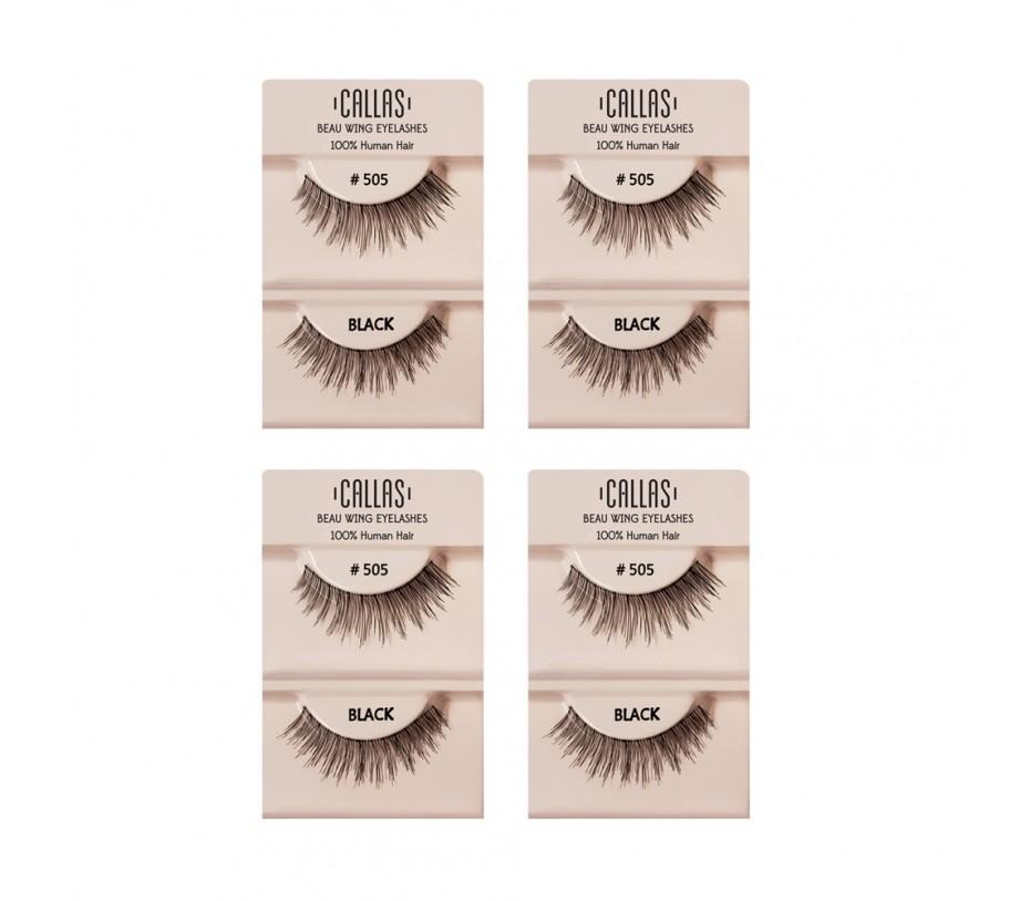Callas Beau Wing Eyelashes #505 1pair x 4sets