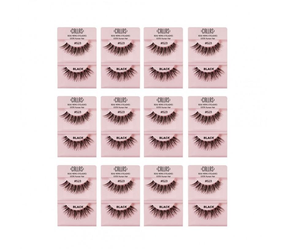 Callas Beau Wing Eyelashes #523 1pair x 12sets