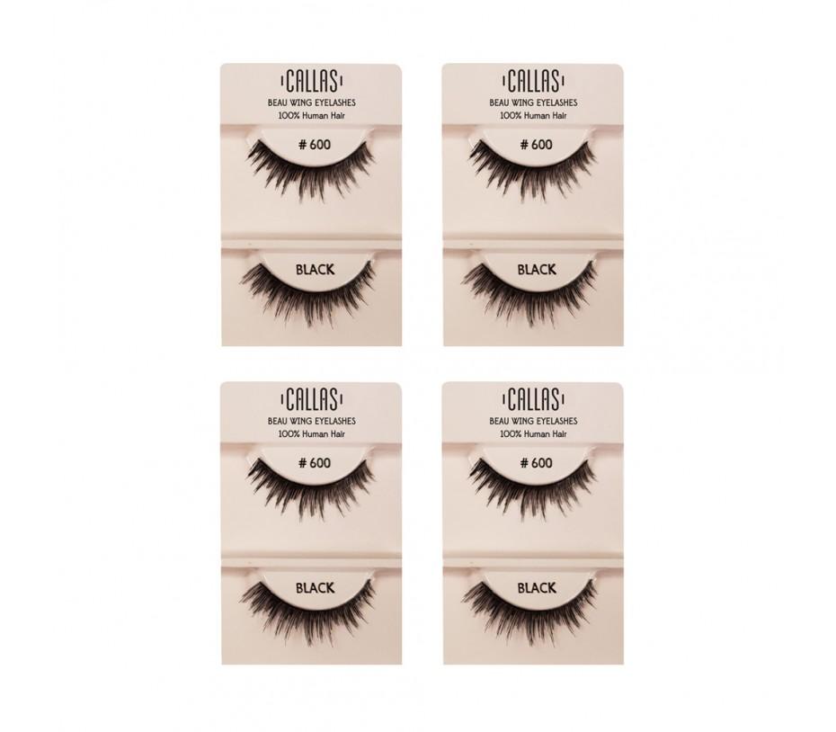 Callas Beau Wing Eyelashes #600 1pair x 4sets
