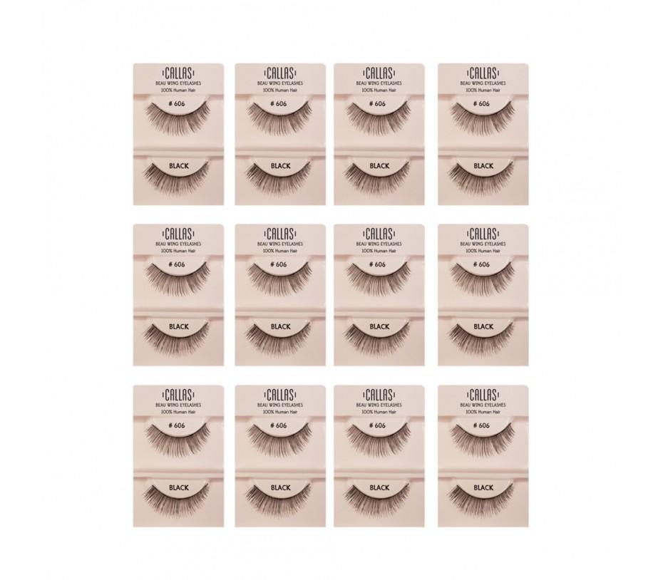 Callas Beau Wing Eyelashes #606 1pair x 12sets