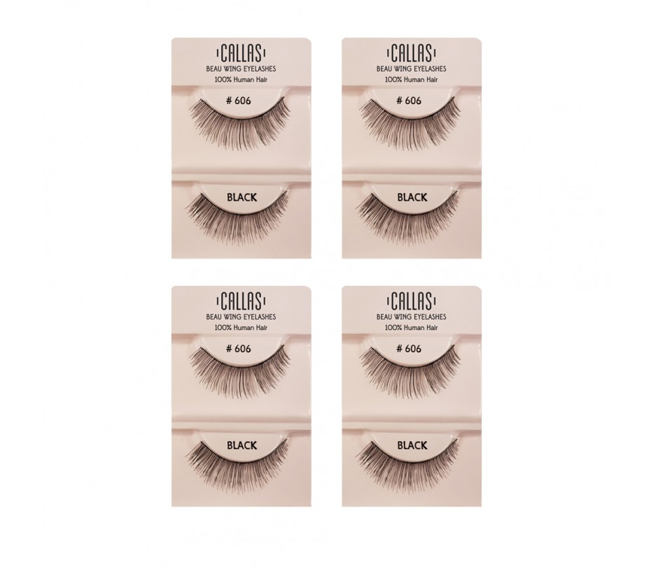 Callas Beau Wing Eyelashes #606 1pair x 4sets