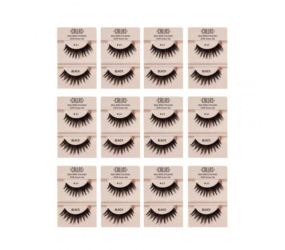 Callas Beau Wing Eyelashes #61 1pair x 12sets