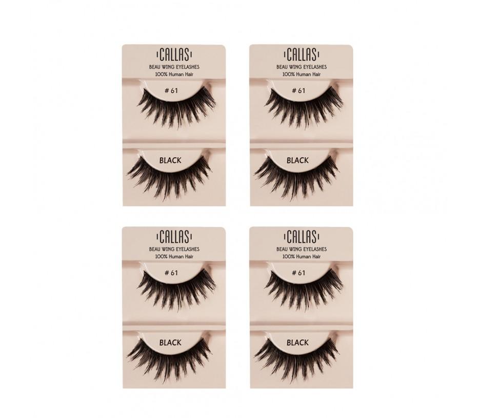 Callas Beau Wing Eyelashes #61 1pair x 4sets