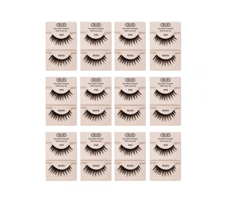 Callas Beau Wing Eyelashes #62 1pair x 12sets