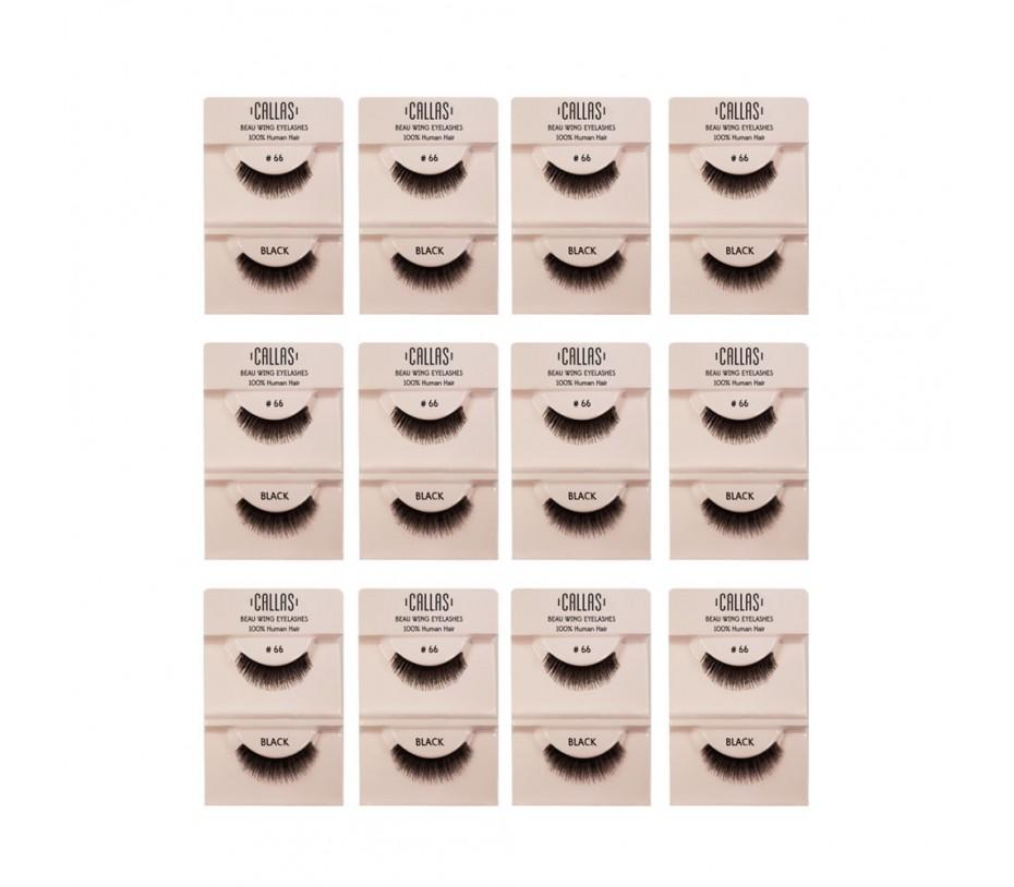 Callas Beau Wing Eyelashes #66 1pair x 12 sets