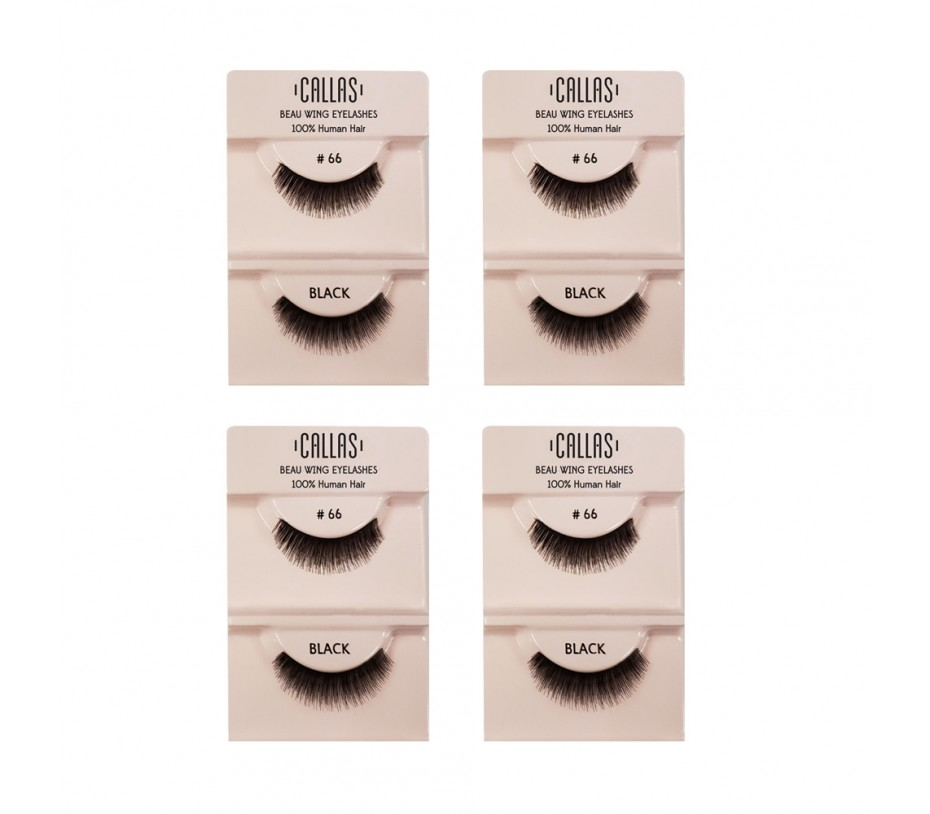 Callas Beau Wing Eyelashes #66 1pair x 4sets