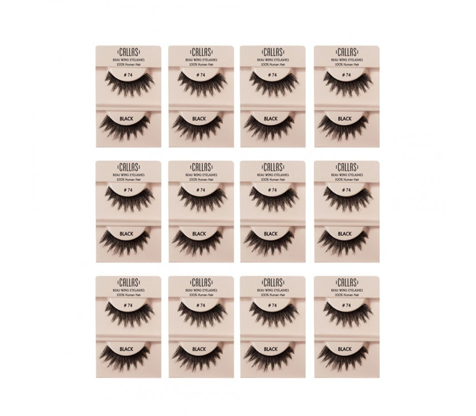 Callas Beau Wing Eyelashes #74 1pair x 12sets