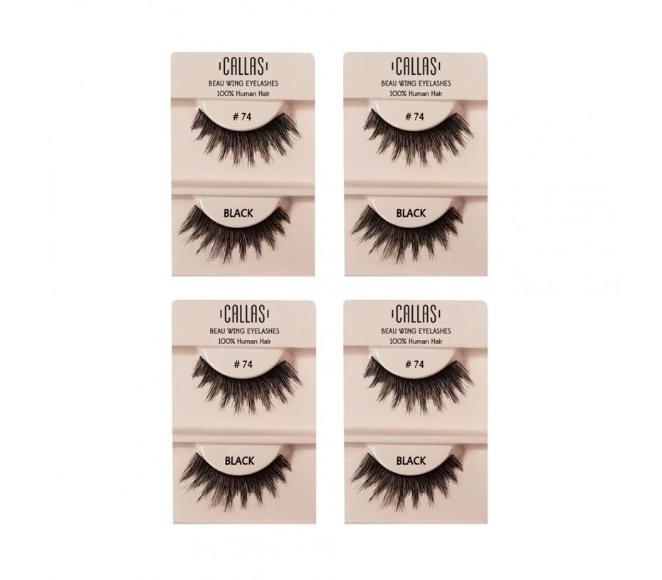 Callas Beau Wing Eyelashes #74 1pair x 4sets