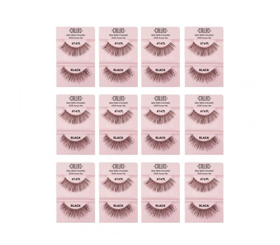 Callas Beau Wing Eyelashes #747L 1pair x 12sets