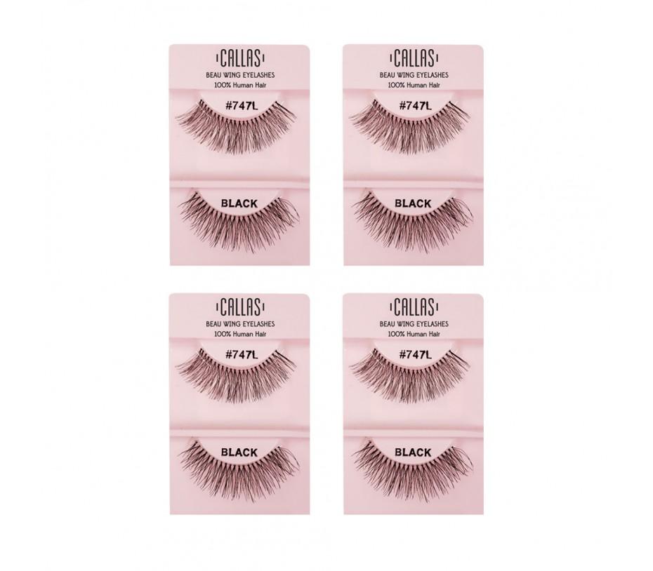 Callas Beau Wing Eyelashes #747L 1pair x 4sets