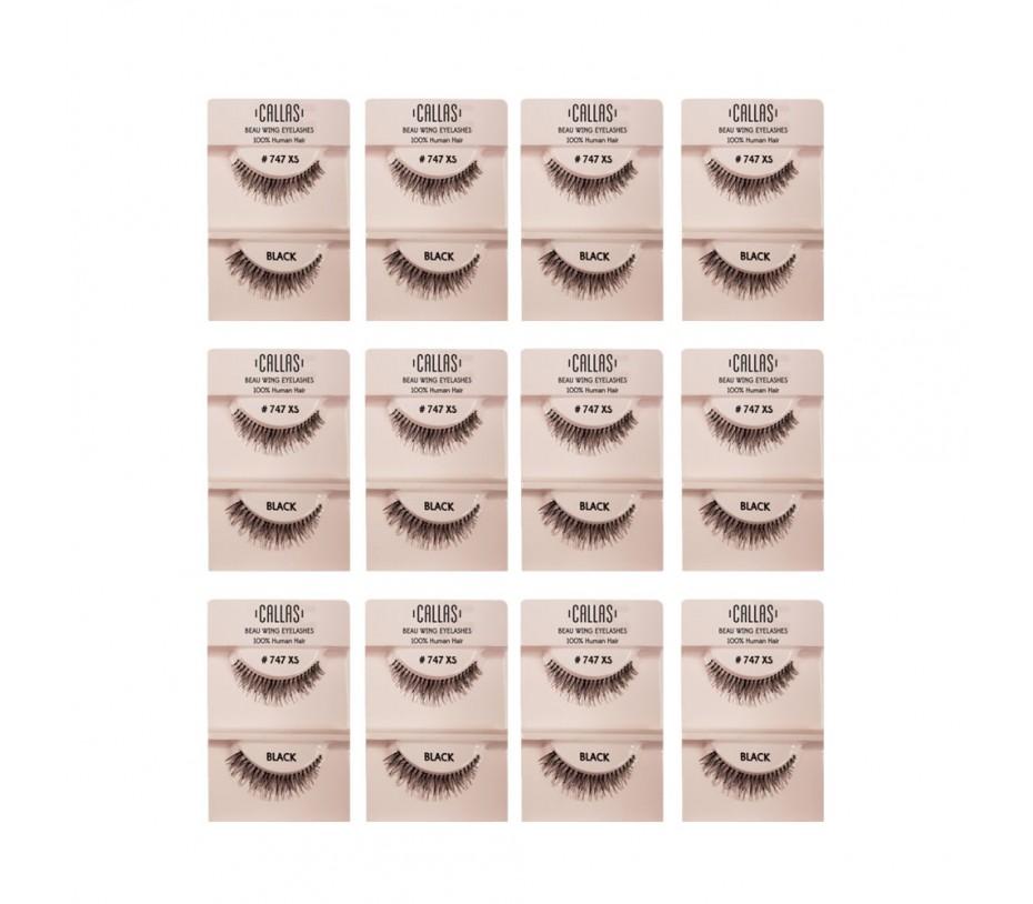 Callas Beau Wing Eyelashes #747XS 1pair x 12sets