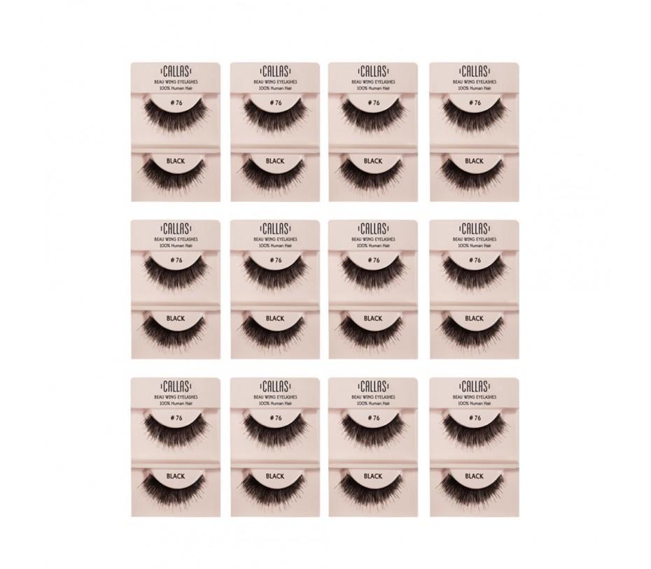 Callas Beau Wing Eyelashes #76 1pair x 12sets