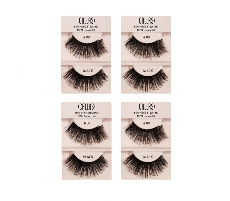 Callas Beau Wing Eyelashes #80 1pair x 4sets