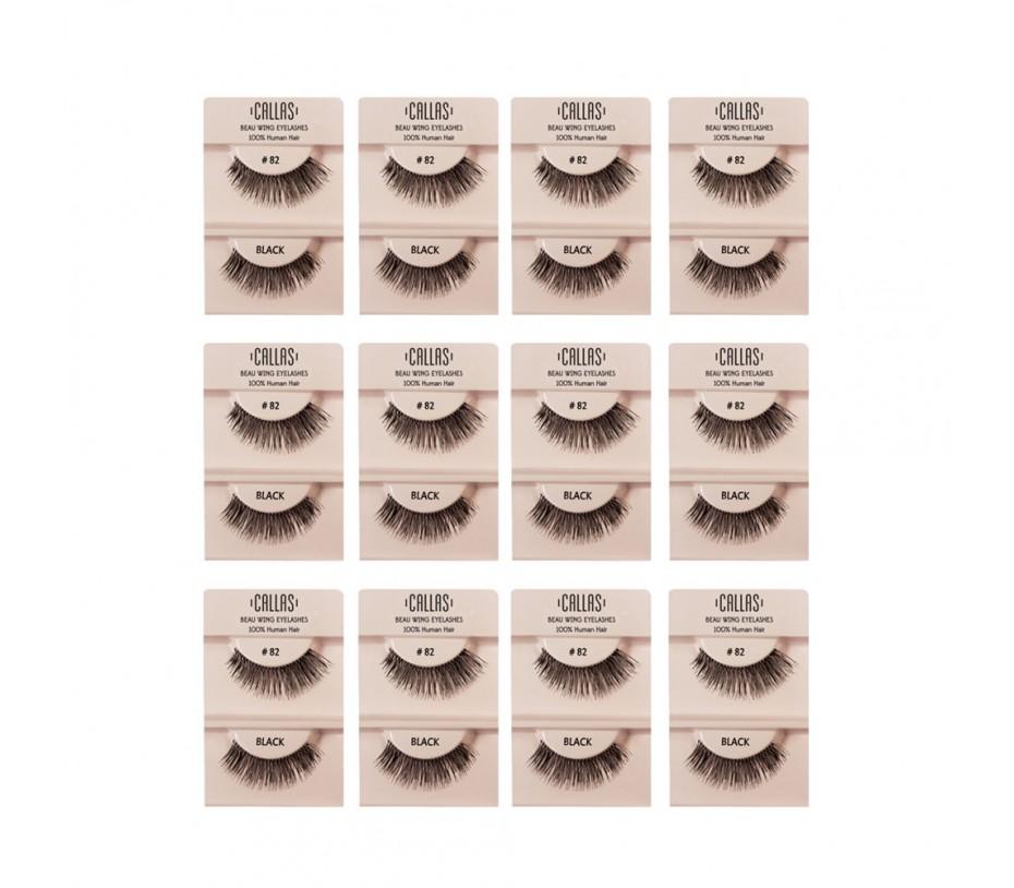 Callas Beau Wing Eyelashes #82 1pair x 12sets