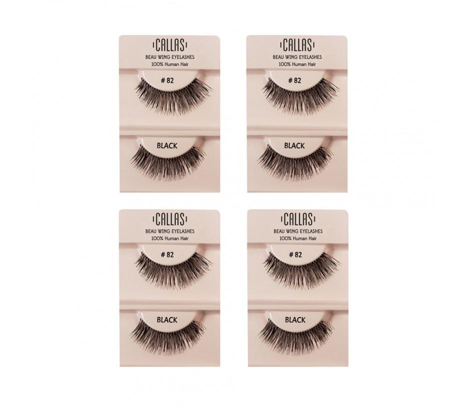 Callas Beau Wing Eyelashes #82 1pair x 4sets