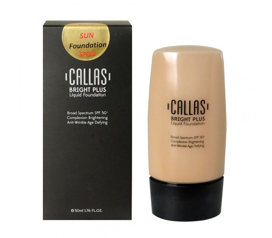 Callas Bright Plus Liquid Foundation SPF 50 (CBPF 05 Tan) 1.7fl.oz/50ml