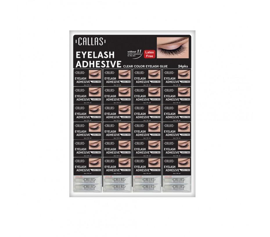 Callas Eyelash Adhesive Clear (1g x 2pcs) 24pcs