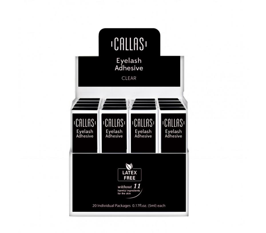 Callas Eyelash Adhesive with Display Latex Free 20 pcs (Black)