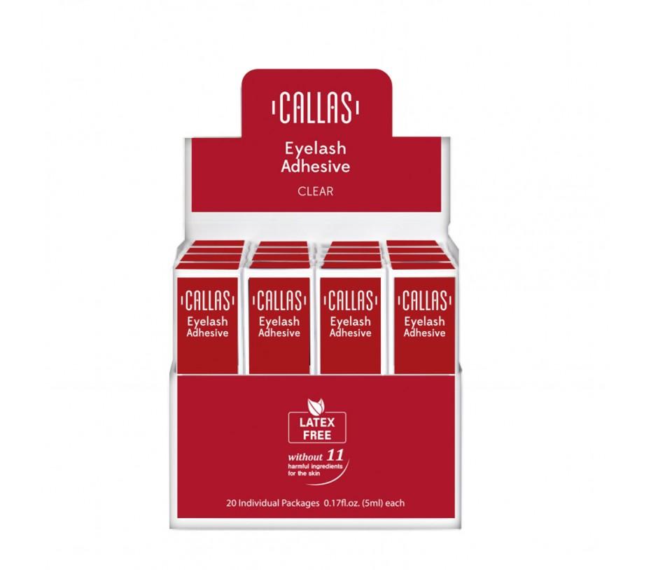 Callas Eyelash Adhesive with Display Latex Free 20 pcs (Clear)