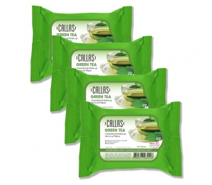 Callas Green Tea Cleansing & Make up Remover Wipes *New* (4 Pack) 0